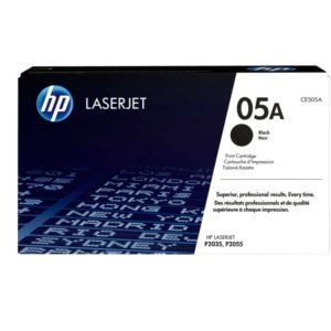 HP Black Original LaserJet Toner Cartridge CE505A (05A)