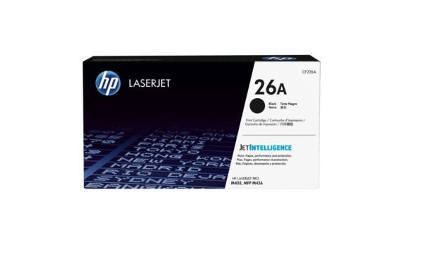 HP Black Original LaserJet Toner Cartridge CF226A (26A)