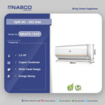 NASCO 2.5HP SPLIT AIR CONDITIONER WHITE (NAS-T24-WHITE)