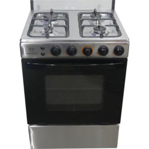 NASCO 4 BURNER 60cm×60cm GAS COOKER -SILVER [LME61010]