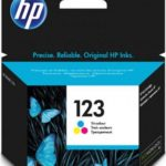 HP 123 Tri-color Ink Cartridge