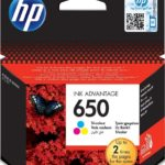 HP 650 Ink Cartridge, Tri-Color – CZ102AK