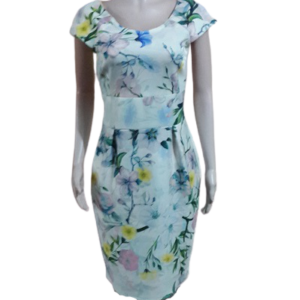 Beautiful Flowered Scuba Dress