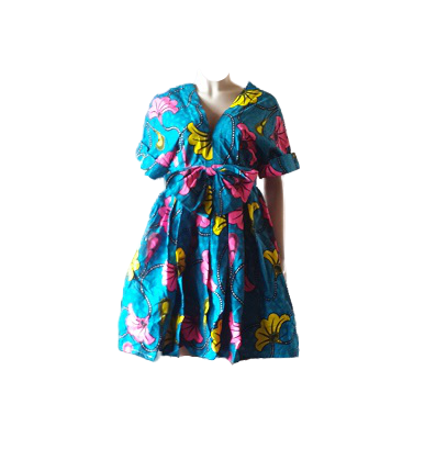 Summer Sleeve African Wear Dress