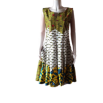African Print Sleeveless Dress