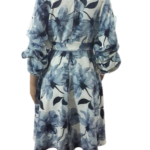 Stunning Overlap & Flair Scuba Dress with Puff Sleeves