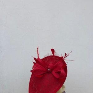 Pretty Handmade Crimson Fascinator