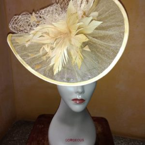 Gorgeous Cream Handmade Fascinator