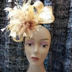 Pretty Handmade Golden Fascinator