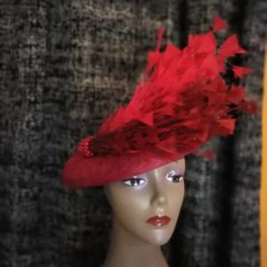 Beautiful Handmade Red Fascinator