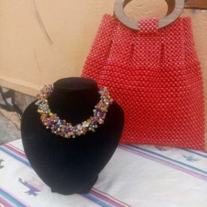 Beaded Bag and Necklace