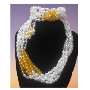 Beaded Jewelry Set – Necklace and Ear