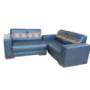 Comfortable 6 Seater Light Blue Sofa