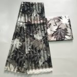 Nice African Wax Design Satin and Organza
