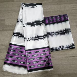 Elegant Satin and organza African Wax Design