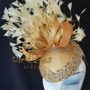 Elegant Fascinator with Sparkling beads