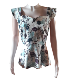 Beautiful Sleeveless Scuba Top