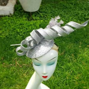 Stunning Rolled Silver Fascinator