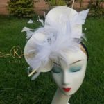 Pretty White Feathers Fascinator