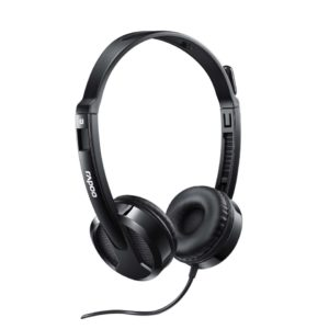 Rapoo Headset Wired Sterio H100 Plus Black